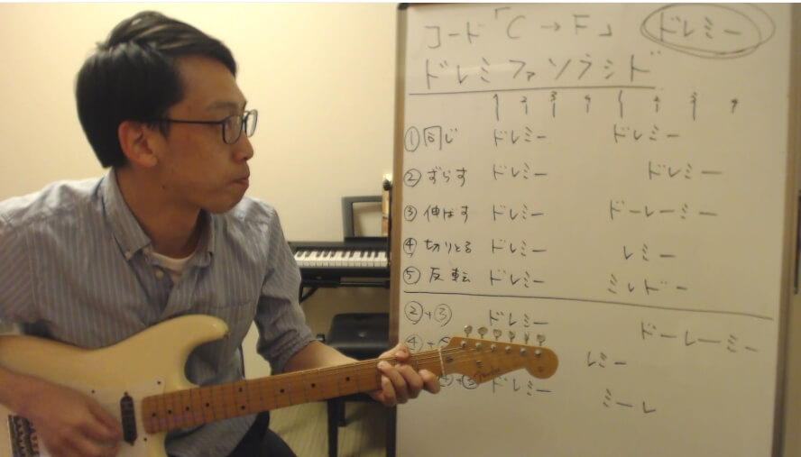 作曲解説動画 | ギターで初心者に解説するメロディのつなげ方